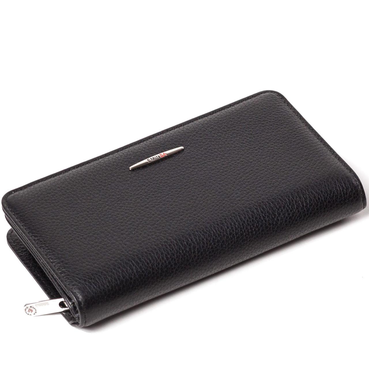 Женский кошелек кожаный черный Eminsa 2151-17-1