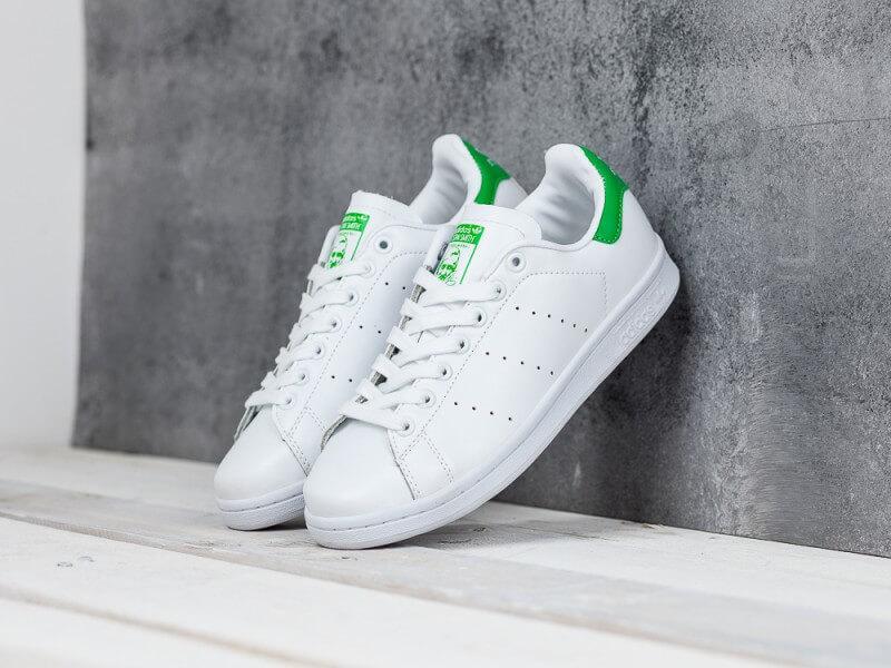 Женские кроссовки Adidas Stan Smith белые с зеленым - Интернет магазин  обуви «im-РоLLi a8d7917b7c5