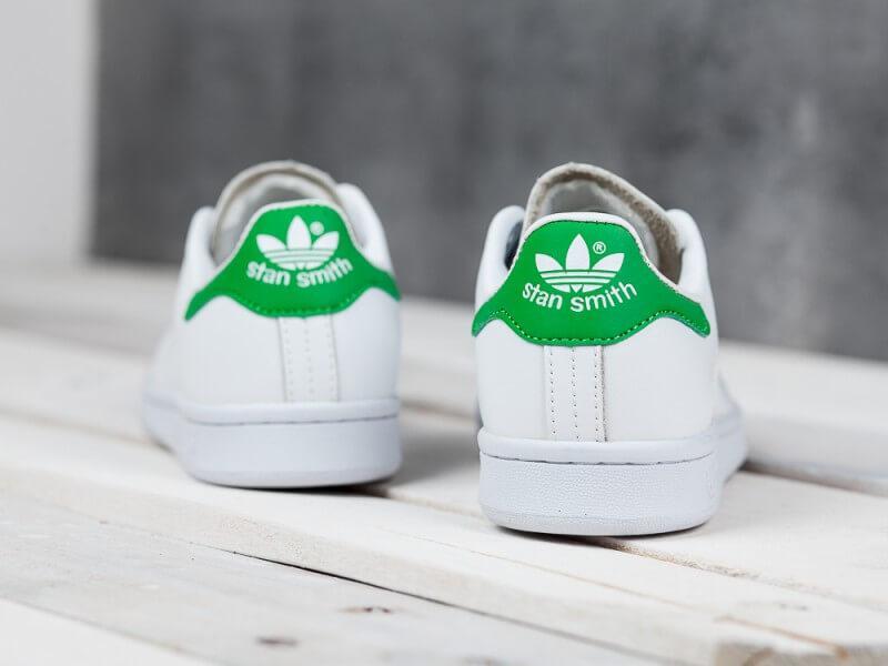 ... Женские кроссовки Adidas Stan Smith белые с зеленым, ... f636becc59f