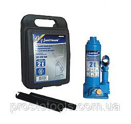 Домкрат бутылочный гидравлический 2т в пластиковом кейсе Unitraum  UN90204S