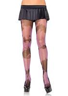 Эротическое секси белье Leg Avenue Колготки с черными и розовыми разводами | Секс шоп - интим магазин в Сундуке.