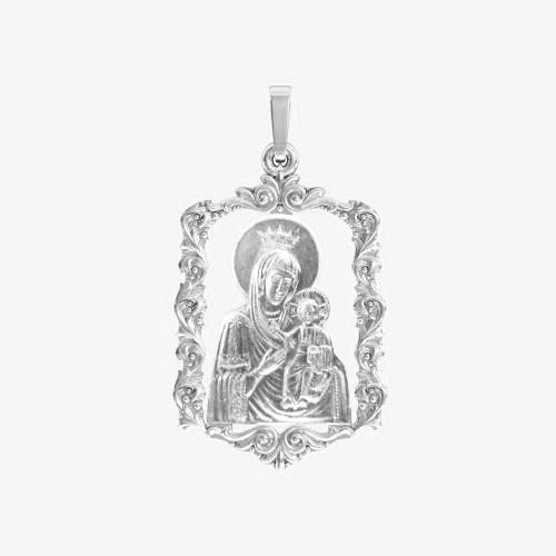 Ладанка серебряная Богородица ЛП-88