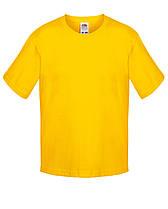 Детская футболка Мягкая для Мальчиков Солнечно-жёлтая Fruit of the loom 61-015-34 3-4