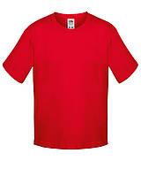 Детская футболка Мягкая для Мальчиков Красная Fruit of the loom 61-015-40 3-4, фото 1