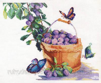 Набор для вышивания крестом Panna N-1200 Сливы с бабочками