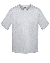 Детская футболка Мягкая для Мальчиков Серо-лиловая Fruit of the loom 61-015-94 3-4