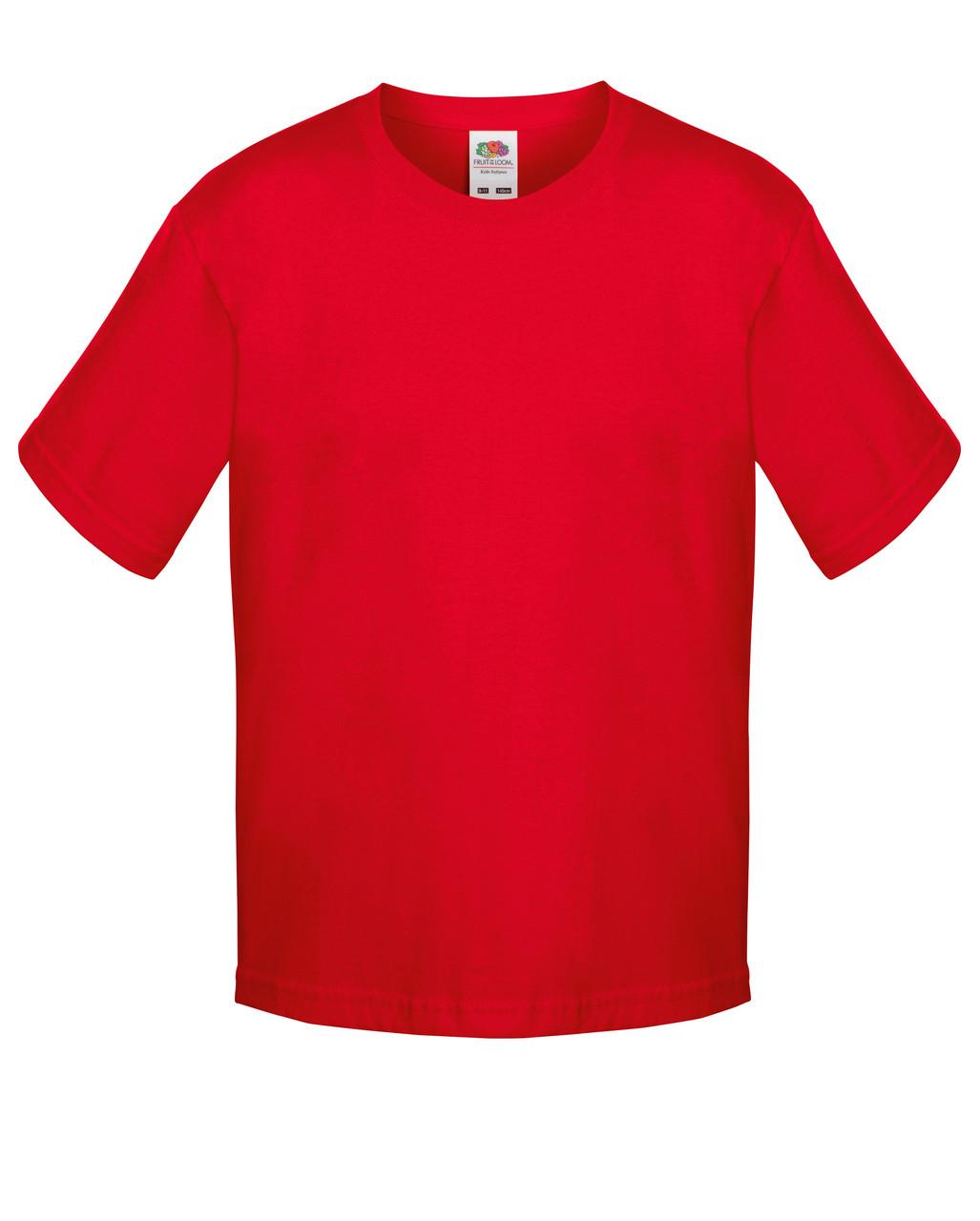 Детская футболка Мягкая для Мальчиков Красная Fruit of the loom 61-015-40 7-8