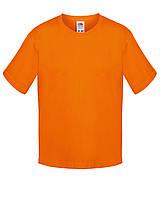 Детская футболка Мягкая для Мальчиков Оранжевая Fruit of the loom 61-015-44 7-8, фото 1