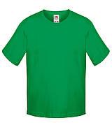 Детская футболка Мягкая для Мальчиков Ярко-зелёная Fruit of the loom 61-015-47 7-8, фото 1