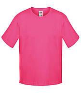 Детская футболка Мягкая для Мальчиков Малиновая Fruit of the loom 61-015-57 7-8