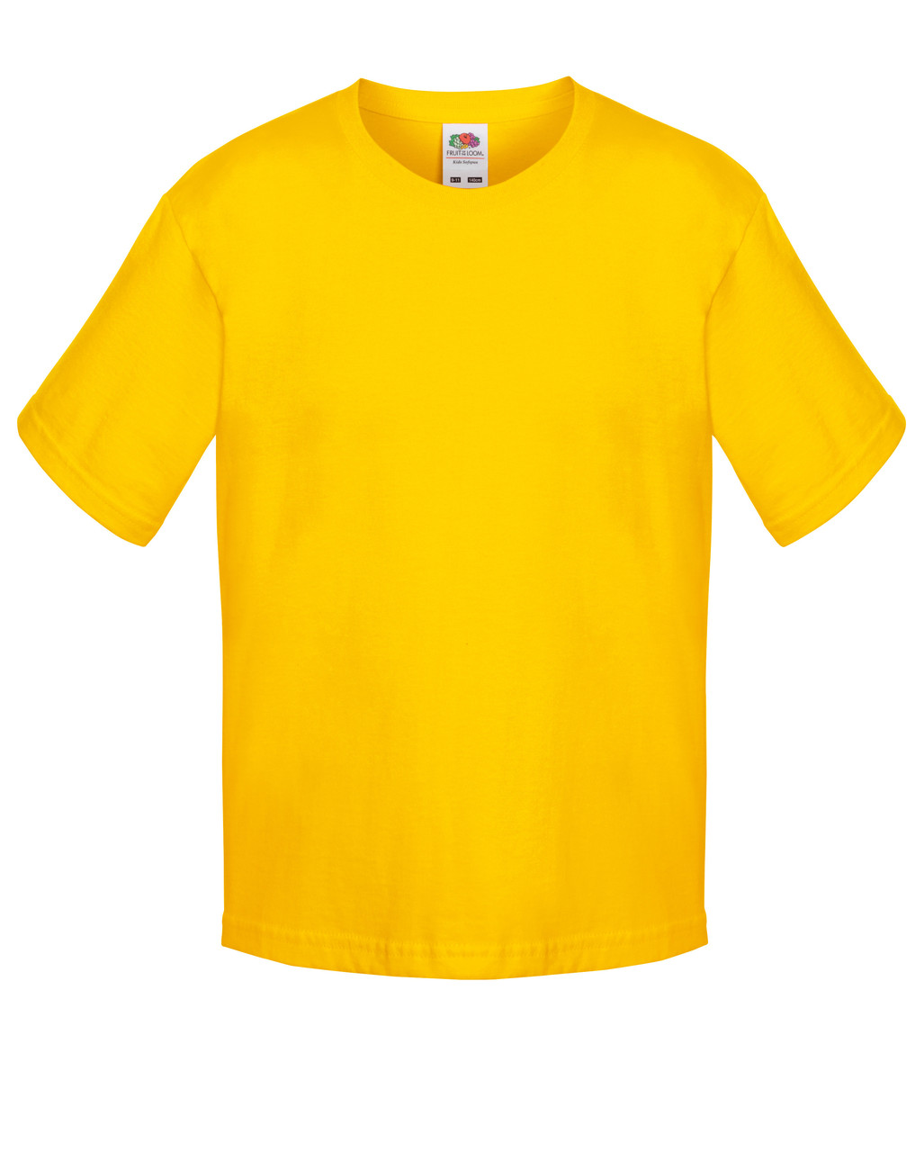 Детская футболка Мягкая для Мальчиков Солнечно-жёлтая Fruit of the loom 61-015-34 9-11