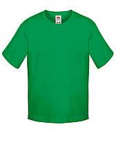 Детская футболка Мягкая для Мальчиков Ярко-зелёная Fruit of the loom 61-015-47 9-11