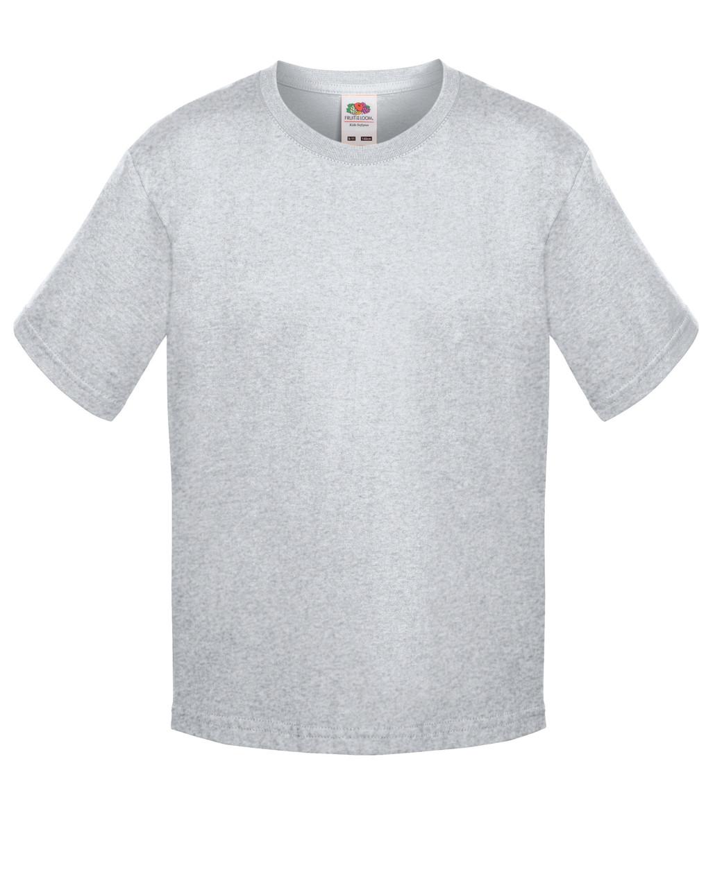 Детская футболка Мягкая для Мальчиков Серо-лиловая Fruit of the loom 61-015-94 9-11