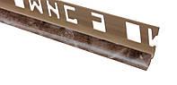 Арт.586 Профиль внутренний мрамор коричневый, шт