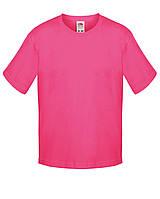 Детская футболка Мягкая для Мальчиков Малиновая Fruit of the loom 61-015-57 14-15, фото 1