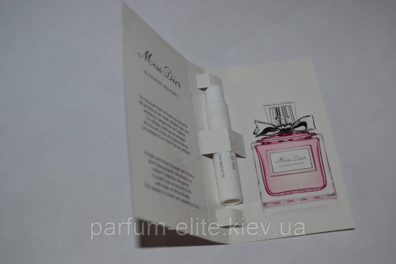 Пробник женской туалетной воды Christian Dior Miss Dior Blooming Bouquet 1ml 84ffd53f3781a