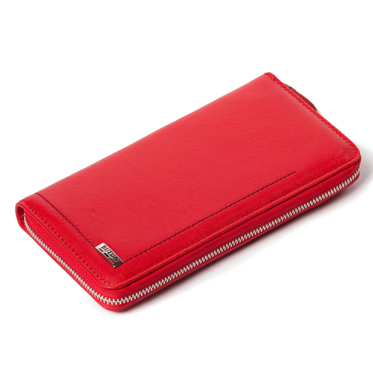 Женский кошелек чехол для телефона красный BUTUN 623-004-006