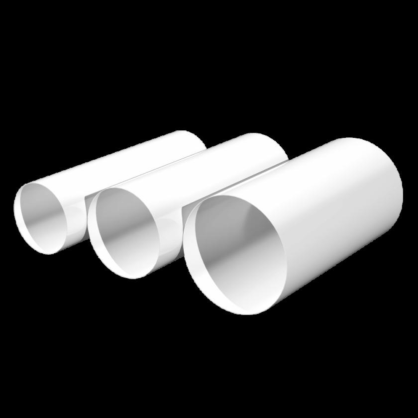 Воздуховод круглый D125, L=0,5м, шт