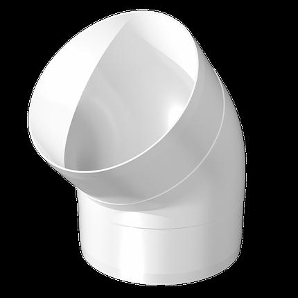 Колено круглое пластик 90 градусов D125 мм, шт, фото 2