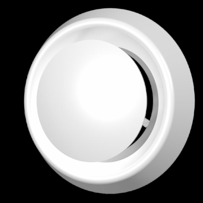 Анемостат приточно-вытяжной регулируемый с фланцем АБС D200, шт