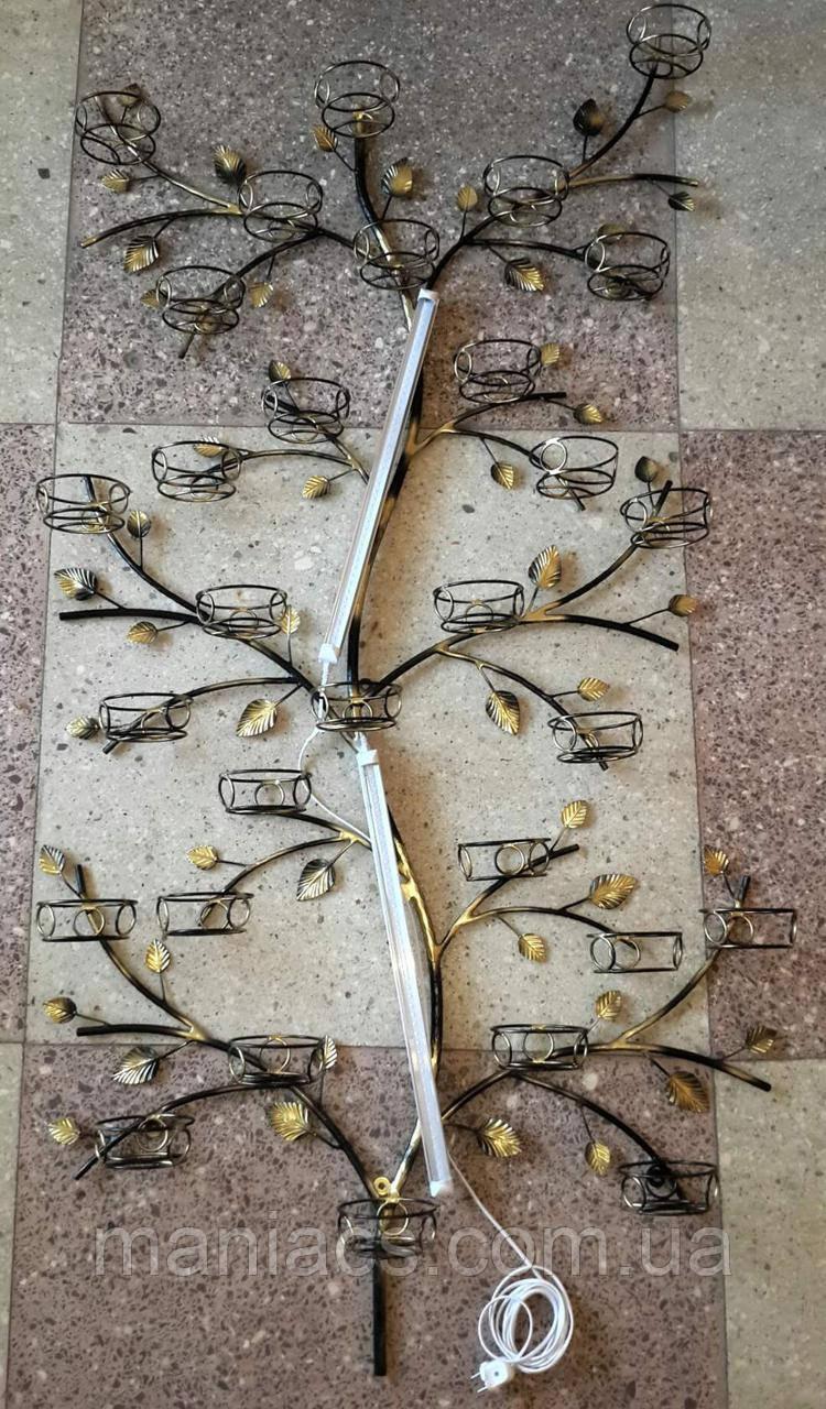Дерево настенное, подставка для цветов на 30 чаш