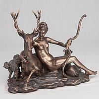 Статуэтка Veronese Диана 17 см 74615 A4, покровительница зверей