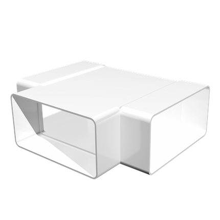 Тройник Т-образный пластик 55х110 мм, шт, фото 2