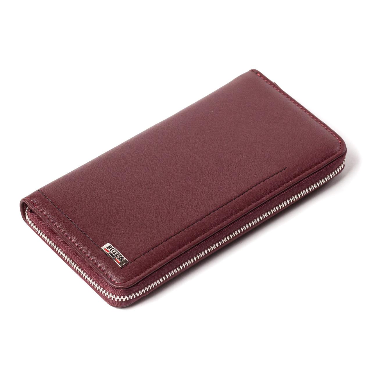 Женский кошелек чехол для телефона бордовый BUTUN 623-004-002