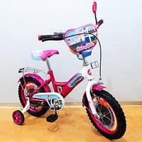 Велосипед с страховочными колесами, Велосипед  двухколесный TILLY Стюардеса 14 T-214211 crimson + white
