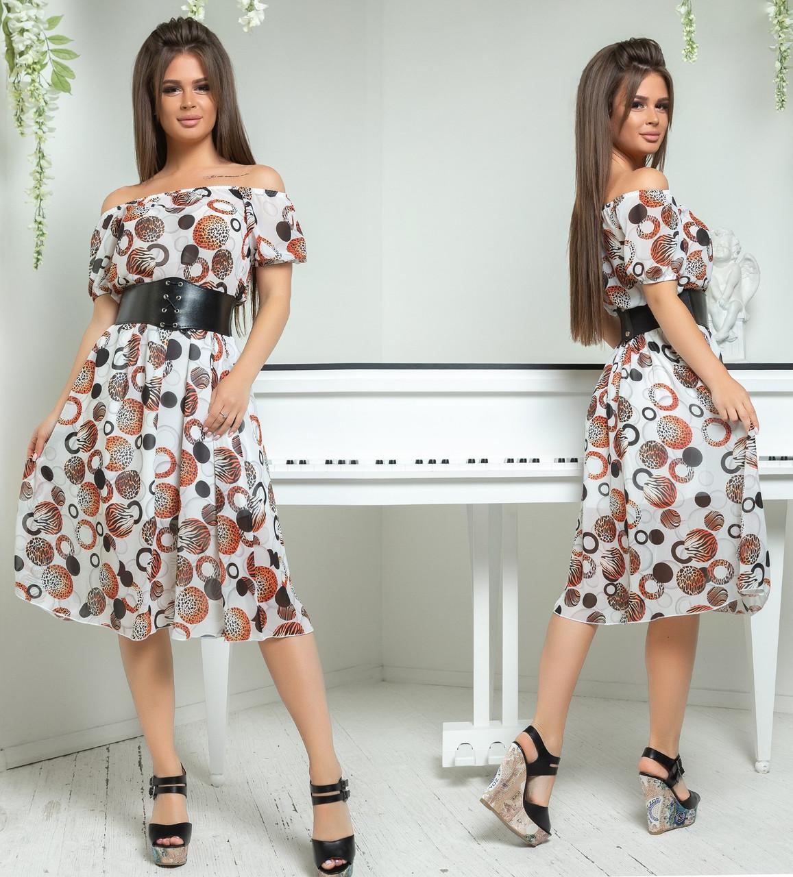 064ecd08f62 Белое шифоновое платье - All You Need - прямой поставщик женской одежды  оптом и в розницу