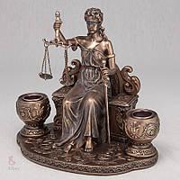 Подсвечник Veronese Фемида, богиня правосудия 18 см 74765 A4