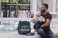 Сумка-рюкзак для мамы с ребёнком Leleka babyDi ocean