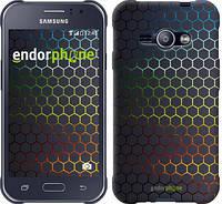 "Чехол на Samsung Galaxy J1 Ace J110H Переливающиеся соты ""498c-215-601"""