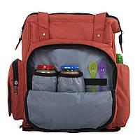 Сумка-рюкзак для мамы с ребёнком Leleka babyDi red