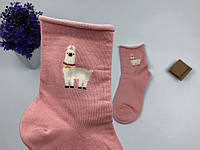 Носки Kikiyasocks - средние - розовые, лама