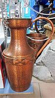 Напольная медная ваза декоративная, антиквариат, фото 1