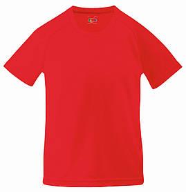 Детская Спортивная Футболка Красная Fruit of the loom 61-013-40 3-4