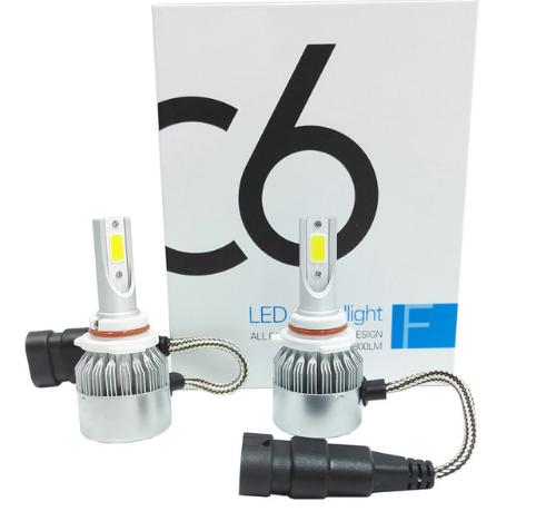 Автолампы LED С6  COB, HB4, 3800LM, 6500K, 36W, 12-24V