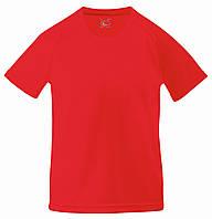 Детская Спортивная Футболка Красная Fruit of the loom 61-013-40 7-8, фото 1