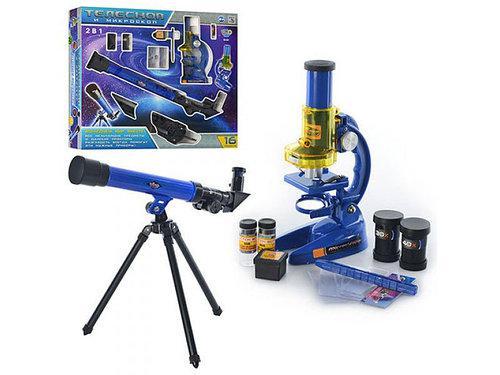 Микроскоп + телескоп. Детский набор 2 в 1
