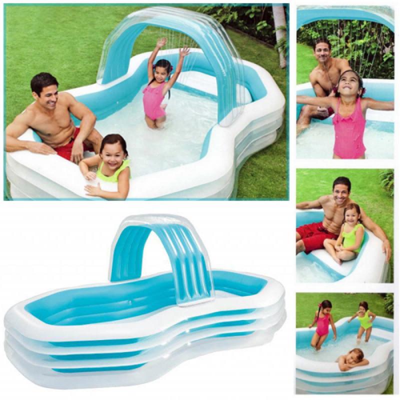 Детский надувной бассейн Intex с навесом 57198 , 310-188-130см