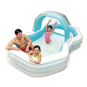 Детский надувной бассейн Intex с навесом 57198 , 310-188-130см, фото 2