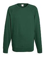 Мужской лёгкий реглан Тёмно-зелёный Fruit Of The Loom 62-138-38 S