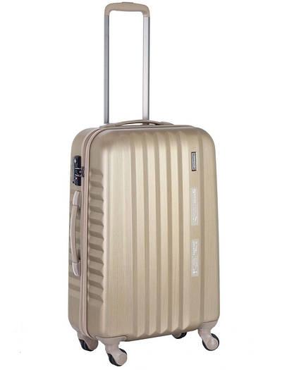 Средний пластиковый чемодан  большой March Ribbon на 4х колёсах