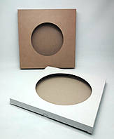 УПАКОВКА под тарелку,  255Х20Х255 (диаметр окошка 210 мм. )