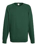 Мужской лёгкий реглан Тёмно-зелёный Fruit Of The Loom 62-138-38 M