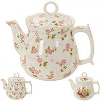 """Заварочный чайник керамический """"Мелкие розы"""" 900мл"""