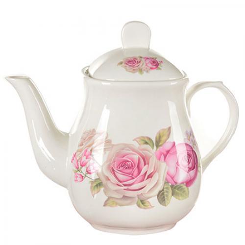 """Заварочный чайник керамический """"Розы"""" 1,1л"""
