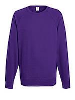 Мужской лёгкий реглан Фиолетовый Fruit Of The Loom 62-138-PE L