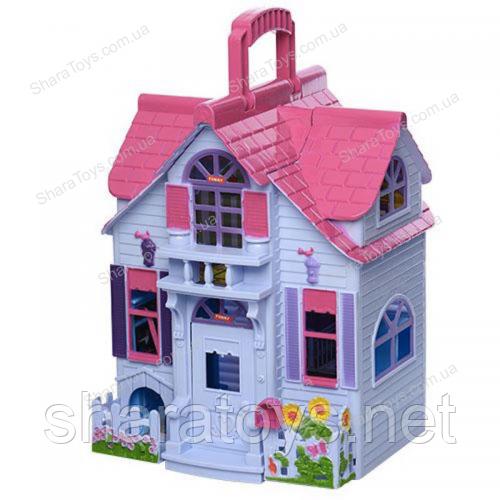 Домик для кукол раскладной с фигурками